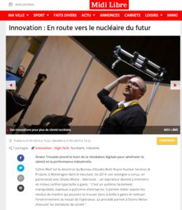 BMExo présente son exosquelette à la journée innovation d'Orano Tricastin